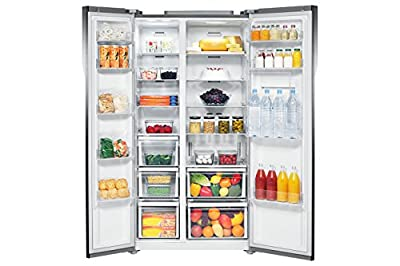 Samsung RS554NRUA1J Frost-free Side-by-Side Inverter Refrigerator (591 Ltrs, Shinny River Pattern)