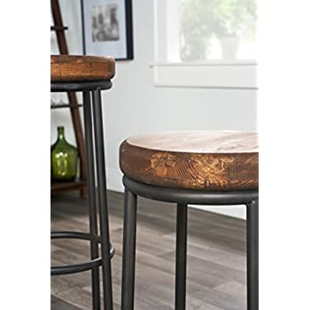 Derrick Bar Stool in Natural Wood