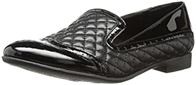Franco Sarto Women's L-Tweed Ballet Flat,Black Quilted Fabric,5 M US