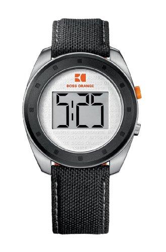 Hugo Boss 1512564 - Reloj unisex de cuarzo, correa de varios materiales color negro