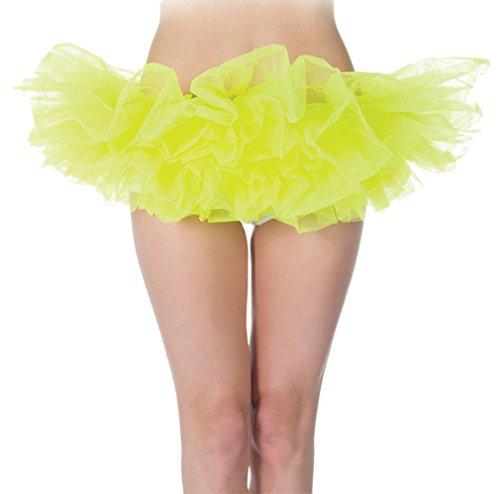 Morris Costumes UR29478 Tutu Neon Yellow - 1