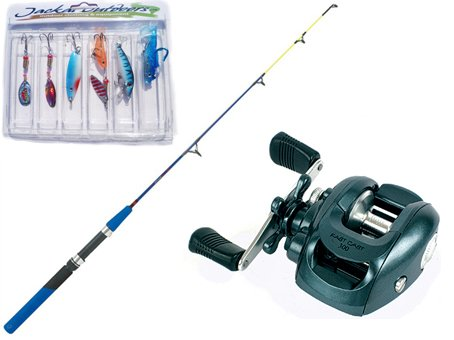 Baitcasting Kayak Rod & Brighton Reel Sea or Freshwater Fishing Combo