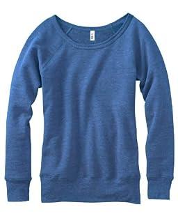 Bella 7501 Ladies Mia Slouchy Wideneck Fleece - Blue Triblend - XL