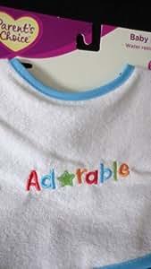 Parents choice baby bib Adorable stitch on bib