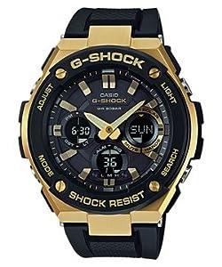 Casio G-Shock Gold / Black Resin Analog-Digital Quartz Men's Watch GSTS100G-1A