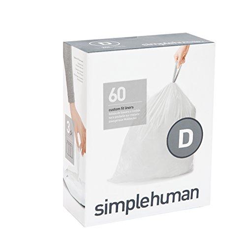 Simplehuman CW0254 Code D Sac Poubelle Sur Mesure 3 x Pack de 20