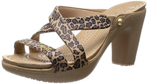 [クロックス] CROCS Cyprus 4.0 Leopard Heel W 16140 751 (Gold/Black/W6)
