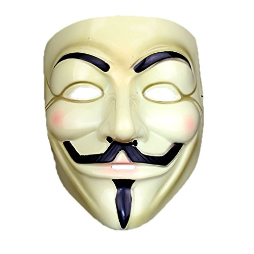V for Vendetta Mask Half Face Mask Masquerade Men Movie Theme V For Vendetta Mask#3
