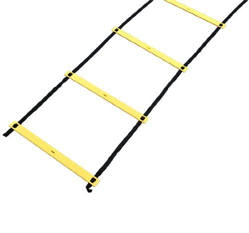 Resilient 22' Speed & Agility Training Ladder + Carrying Bag - Yellow Flat Rungs