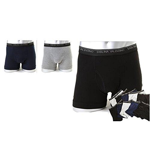 (サブリナバレンチノ)綿混素材 前開き メンズ ボクサーパンツ 10枚セット (色おまかせ)-L