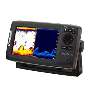 Lowrance 000-10961-001 Elite-7X Fishfinder with 83 200-455 800 KHz Transom Mount Transducer by Lowrance