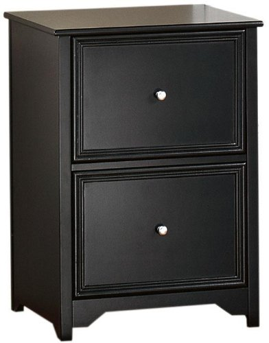 Oxford File Cabinet, 2-DRAWER, BLACK