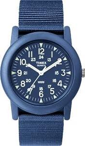 Unisex Timex T2N257Tmx Wmns Camper Blue Blue Nylon Strap,, Blue Dial