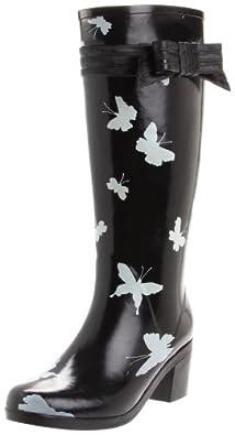 Kate Spade New York Women's Randi Too Boot,Black/Cream,7 M US