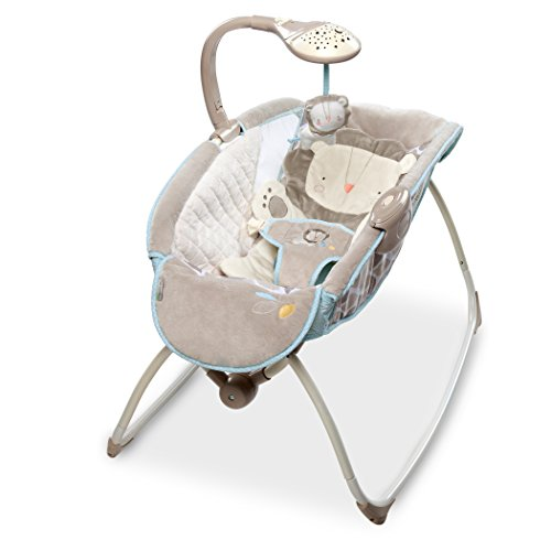 Ingenuity 10380 Cuddle Lion Moonlight Rocking Sleeper, Beige