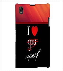 PrintDhaba Quote D-2699 Back Case Cover for SONY XPERIA Z1 (Multi-Coloured)
