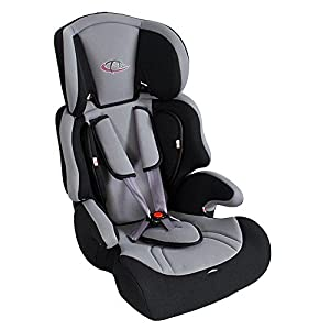 TecTake Silla de coche para niños - Grupos 1/2/3 pesos de 9-36 kg negro/gris de TecTake en BebeHogar.com