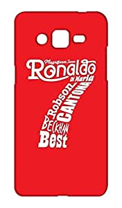 Samsung Galaxy Grand Prime Manchester United Football Club Design Back Cover - Printed Designer Cover - Hard Case - SGGPCMBMUFC0175