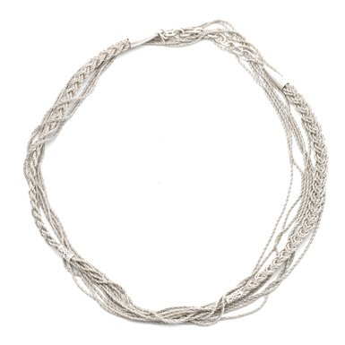 Extra Long Twisted Silver Necklace by Sarah Cavender