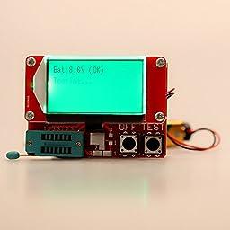 Constructan(TM) Portable Multi-functional LCD Digital ESR Tester Transistor Tester Diode Thyristor Capacitance LCR Meter Two-button Operation