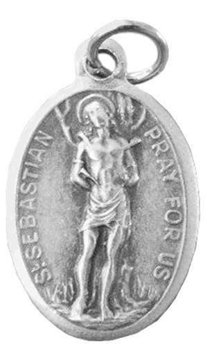 St. Sebastian Medal Pray for Us 20′ Steel Chain with Clasp