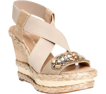 Donald J Pliner Women's Tiki Wedge Sandal,Gold,9 M US