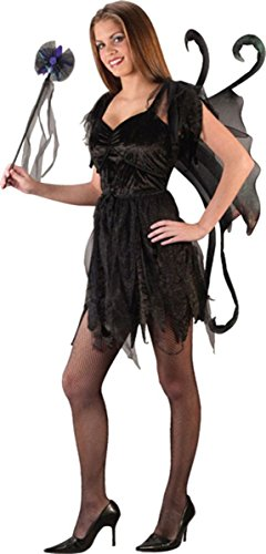 Morris Costumes Midnight Fairy Black Teen