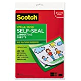 Scotch® Self-Sealing Laminating Sheets, 9.6 mils, 8-1/2 x 11, 10 per Pack