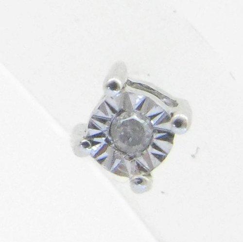Mens 925 Sterling Silver earrings fancy stud hoops huggie ball fashion dangle white small bezel earrings