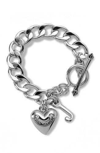 Juicy Couture Silver Starter Charm Bracelet
