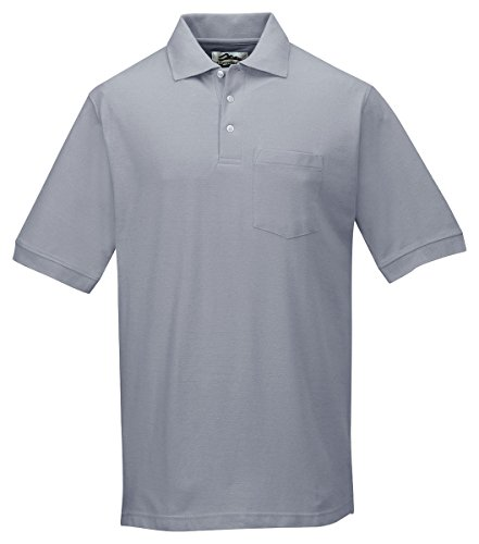 Tri-Mountain 189 Mens Cotton Baby Pique Pocketed Golf Shirt - Heather Gray - Xl front-1056401