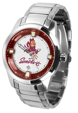 Arizona State Sun Devils ASU NCAA Mens Titan Steel Watch