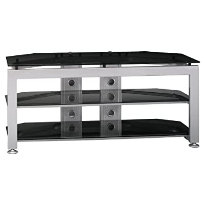 Bush Furniture Universal TV/VCR Video Base, Satin Chrome