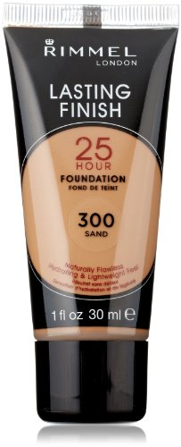 Rimmel Lasting Finish 25 Hour Liquid Foundation 300 Sand, 1 fl. oz