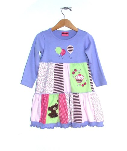 "Boutique Baby Girls ""Teddy Bear Picnic"" Long-Sleeved Dress"