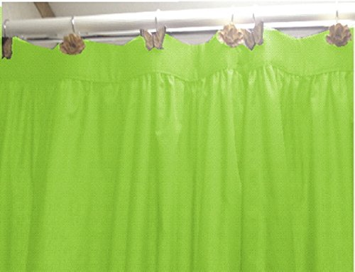 United Linens 10 Gauge HEAVY DUTY Shower Curtain Liner neon Lime,72x72, PEVA, , Mildew Free, Resistant, Mold Resistant , Eco Friendly , Vinyl , No Chemical Odor liner (Shower Liner Green compare prices)