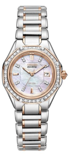 CITIZEN SIGNATURE ECO-DRIVE OCTAVIA DIAMOND EW2096-57D LADIES DIAMONDS WATCH