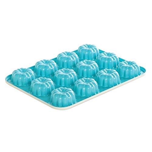 Nordic Ware 52822 12-Cavity Bundt Cupcake Pan, Mini, Colors Vary (Mini Cupcake Pan 12 compare prices)