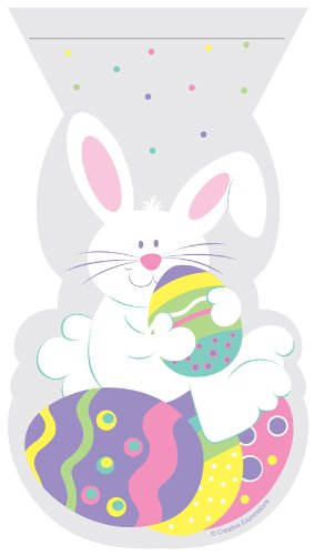 Shaped Easter Bunny Zippered Cello Bag - 12/Pack (5
