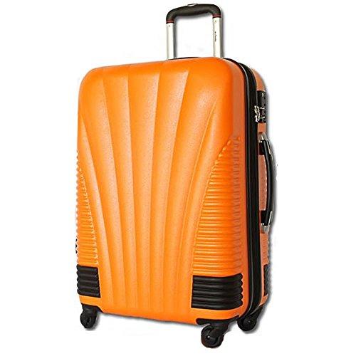 [BB-Monsters ビービーモンスターズ] スーツケース 小型 機内持込み 超軽量 旅行カバン キャリーバッグ 旅行かばん ファスナータイプ 青竜 (小型、SS、19, オレンジ×ブラックパーツ)