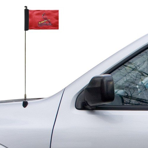 "MLB St Louis Cardinals 4"" x 5.5"" Red Car Antenna Flag at Amazon.com"