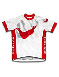 Easter Island Flag Short Sleeve Cycling Jersey for Women