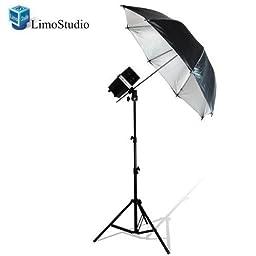 LimoStudio Photography Flash Strobe Monolight Light Lighting Kit Single 200 Watt Flash - Photography Light Stand & Photo Reflective Umbrella, AGG335