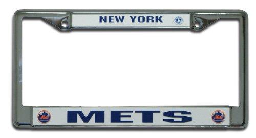 Mlb New York Mets Chrome License Plate Frame
