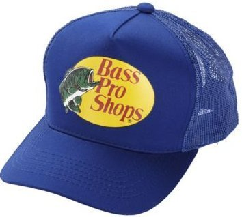 Authentic Bass Pro Mesh Fishing Hat - Blue, Adjustable, One Size Fits Most (Fishing Bass Pro Shop compare prices)