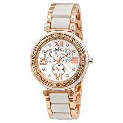 Swisstyle Analog white dial Women's Watch - SS-LR703-WHT-CH