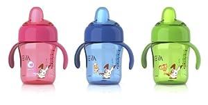 Philips Avent SCF752/00 - Vasos para niños más mayores con boquilla antigoteo con válvula patentada, tapa abatible a presión/boquilla limpia