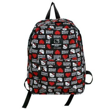 This Hello Kitty 'I Love Nerds' backpack with front zippered pocket and