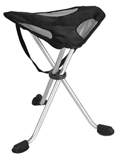 TravelChair Sidewinder Chair Folding Camp Tripod Stool, Black (Tri Pod Feet compare prices)
