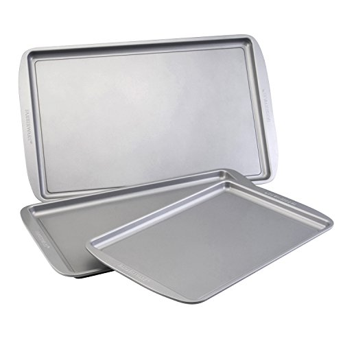 Farberware Nonstick Bakeware 3-Piece Cookie Pan Set, Gray (Farberware Nonstick Baking Pans compare prices)